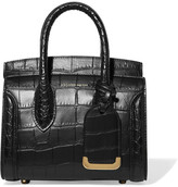 Alexander McQueen Heroine Small Croc-effect Leather Tote - Black