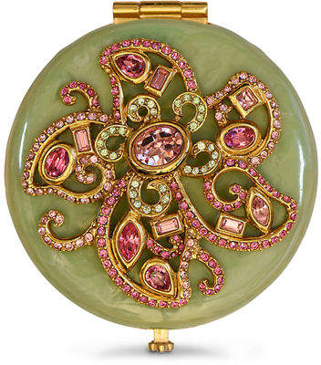 Jay Strongwater Flower Jeweled Compact
