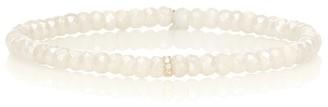 Sydney Evan Exclusive to Mytheresa Eternity beaded bracelet with 14kt yellow gold and diamond bezel