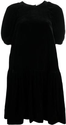 Cecilie Bahnsen Velvet Shift Dress