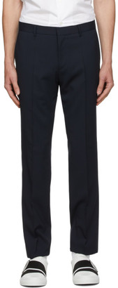 HUGO BOSS Navy Wool Ben2 Trousers