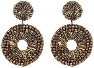 Panacea Beaded Circle Drop Earrings