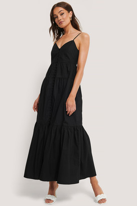 NA-KD Strap Buttoned Cotton Dress
