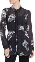 Ellen Tracy Satorial Sophistication Button Front Tunic