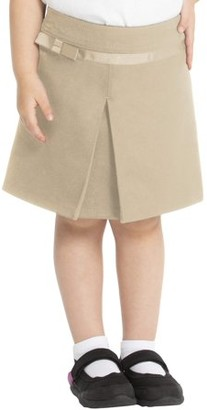Real School Uniforms Real School Toddler Girls School Uniform Pleated Scooter Skirt with Ribbon