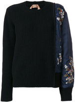 No.21 brocade sleeved sweater - women - Polyamide/Viscose/Virgin Wool - 40