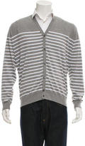 John Smedley Striped V-Neck Cardigan