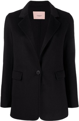 Twin-Set Single-Breasted Tailored Blazer