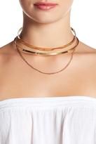Steve Madden Cutout Collar Chain Drop Choker