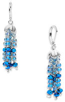 lonna & lilly Faceted Glass Stone Tassel Drop Earrings