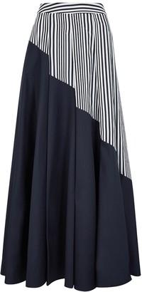 Palmer Harding Sunda panelled cotton maxi skirt