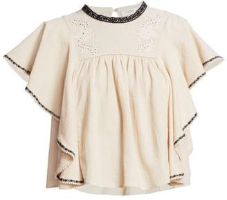 Etoile Isabel Marant Railey Flutter-Sleeve Top