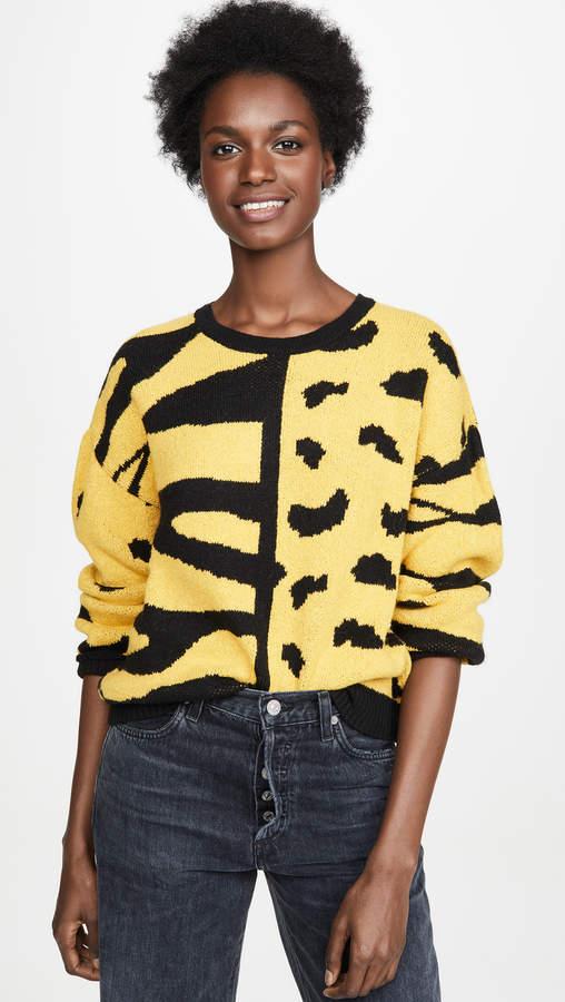 Dna Zebra Leopard Mix Sweater