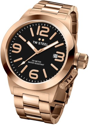 TW Steel 'Canteen' Quartz Gold Watch(Model: CB403)