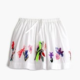 J.Crew Girls' pull-on skirt in embroidered bird garden