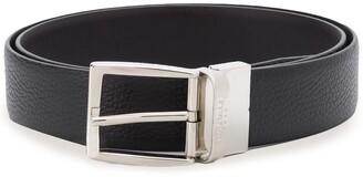 Canali logo engraved buckle belt
