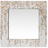 Surya Hornbrook Square Mother of Pearl Mirror