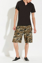 Forever 21 FOREVER 21+ Alternative Apparel Victory Camo Sweatshorts