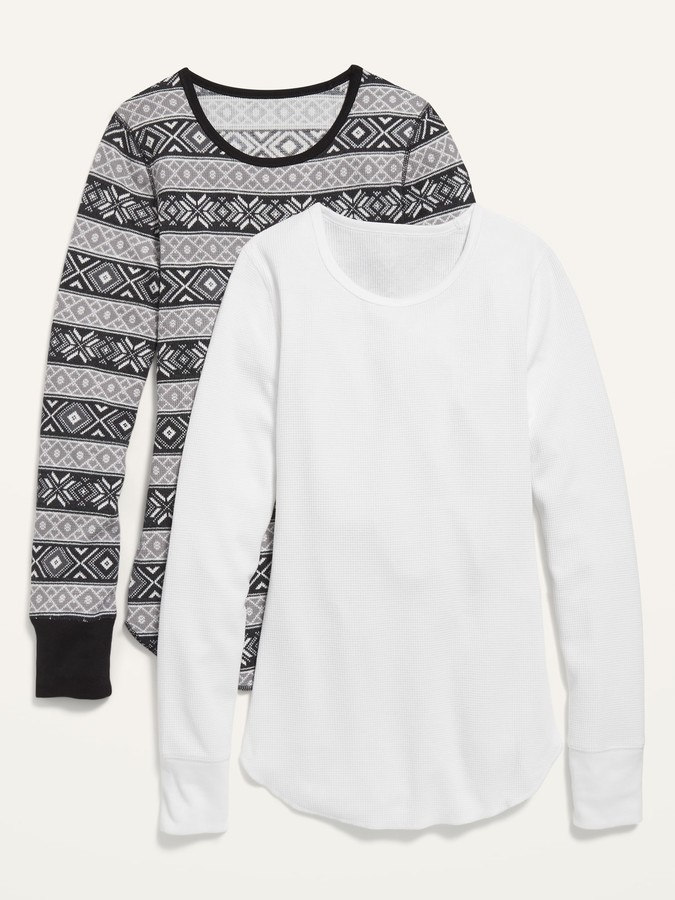 Old Navy Thermal-Knit Long-Sleeve Tee 2-Pack for Women