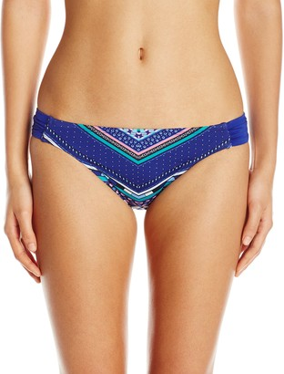 Laundry by Shelli Segal Women's Shangri-La Side Tab Hipster Bikini Bottom