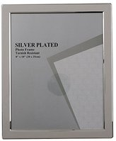 Evergreen Tarnish Resistant Silver Plated Narrow Edge Photo/Picture Frame, 8x10 inch