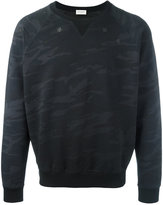 Saint Laurent camouflage sweatshirt - men - Cotton - XL