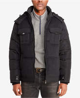 Sean John Men's Quilted Mixed Media Jacket