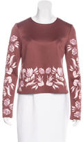 Clover Canyon Floral Print Long Sleeve Top