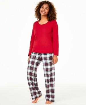 Family Pajamas Matching Women's Mix It Stewart Plaid Family Pajama Set, Created for Macy's