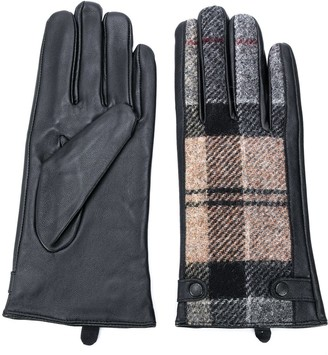 Barbour Tartan Panelled Gloves