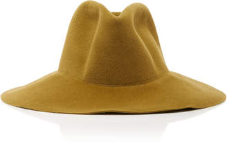 CLYDE Wide Brim Pinched Angora Hat