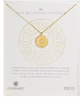 Dogeared Women's The New Beginnings Mandala Pendant Necklace