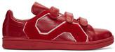 Raf Simons Red adidas Originals Edition Stan Smith Comfort Badge Sneakers