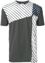 Loewe panelled striped T-shirt - men - Cotton/Modal/Viscose - S
