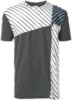 Loewe panelled striped T-shirt - men - Cotton/Viscose/Modal - S