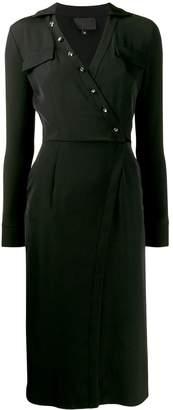 Philipp Plein button embellished midi dress