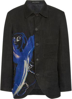 Yohji Yamamoto Printed Flax Blazer