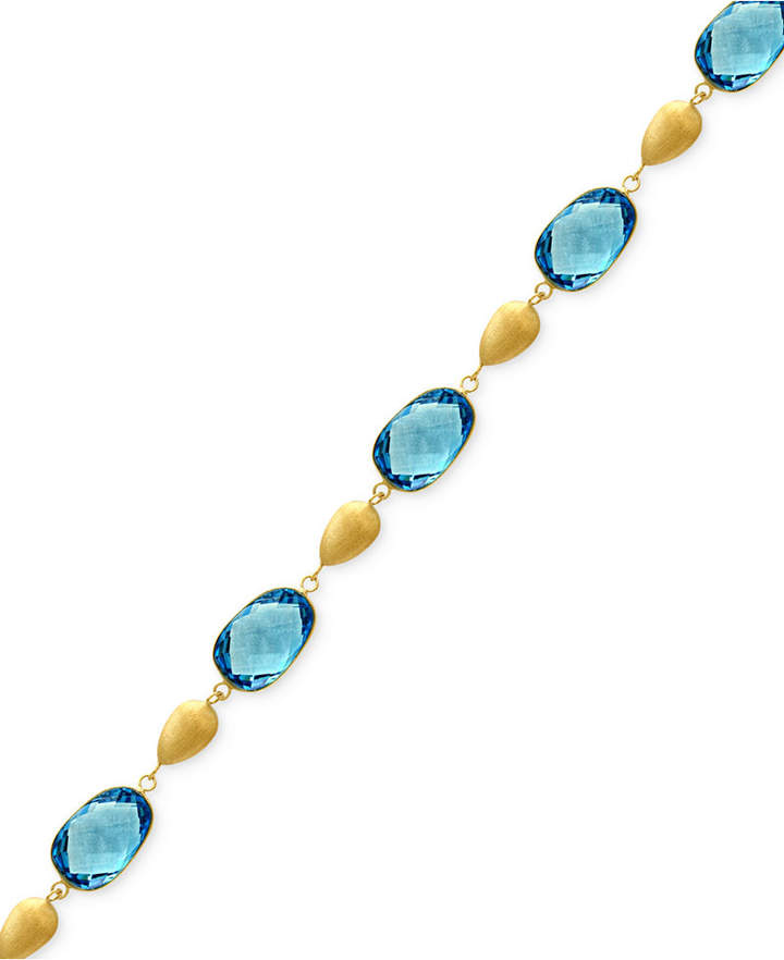 Effy Ocean Bleu by Blue Topaz Link Bracelet (29 ct. t.w.) in 14k Gold