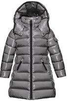 Moncler Moka Hooded Puffer Coat, Navy, Size 8-14