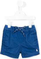 Ralph Lauren logo embroidered shorts - kids - Cotton - 9 mth