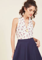FD87700P Layer your look in the delicate elegance of this ivory top. Boasting a softly pleated, shawl-style V-neckline, a relaxed silhouette, and sweet mauve florals, this breezy ModCloth-exclusive blouse is as uniquely sophisticated as you are!