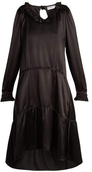 Balenciaga V Neck Dress - Womens - Black