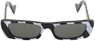 Gucci Gg0516s Striped Squared Acetate Sunglass