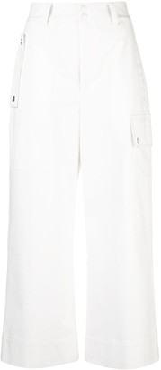 Proenza Schouler White Label Cropped Cargo Trousers