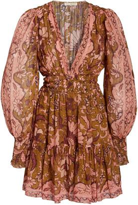 Ulla Johnson Rosetta Printed Silk-Blend Dress