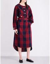 Miharayasuhiro Buffalo check-print poplin shirt dress