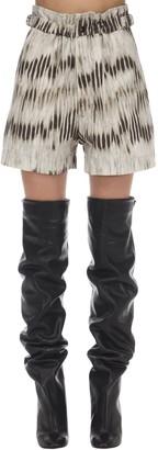 Isabel Marant Ilirya Tie Dyed Cotton Poplin Shorts