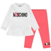 Moschino Girls Ivory Tops & Leggings Set