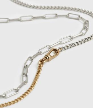 AllSaints Dakotas Mixed Chain Necklace