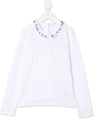 Dolce & Gabbana Kids Logo Collar Blouse